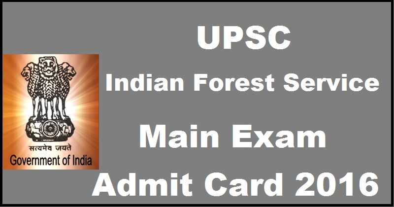 UPSC IFS Mains Admit Card 2016 Download