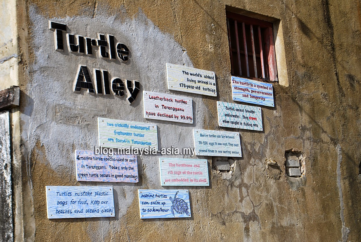 Turtle Alley in Chinatown, Terengganu