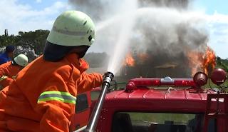 Satpol PP dan Damkar Gelar Simulasi Kebakaran