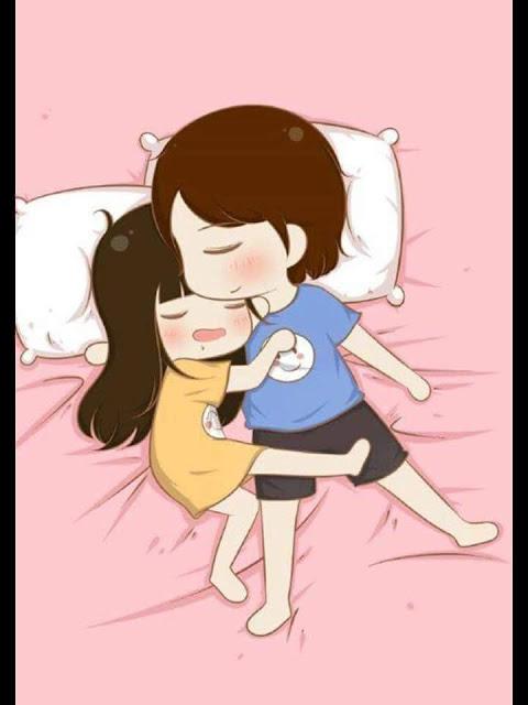 Ảnh chibi tình yêu 'ngủ chung' cực kì dễ thương