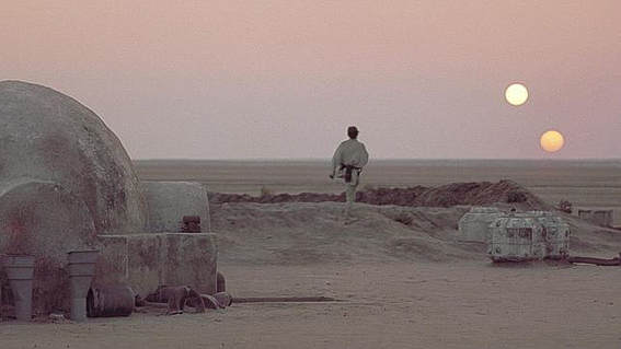 Planeta tattoine. La guerra de las galaxias
