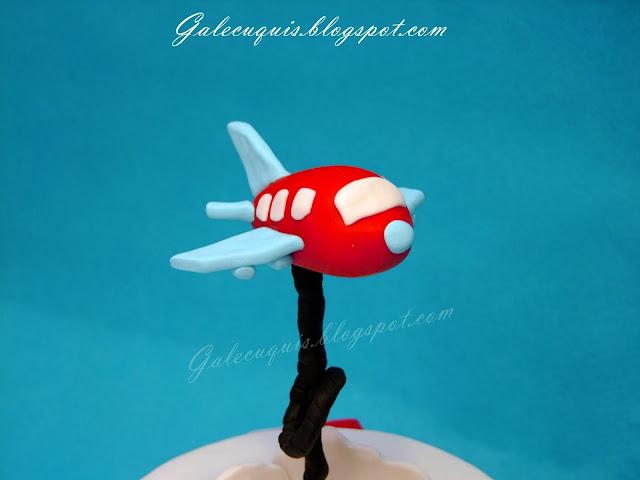 avión de fondant