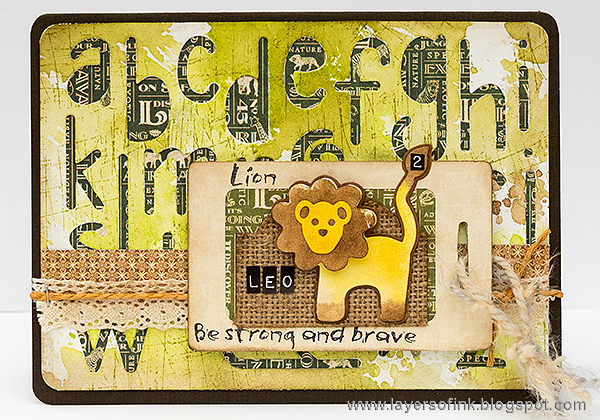 Layers of ink - Lion Birthday Card Tutorial by Anna-Karin with Sizzix dies by Eileen Hull.