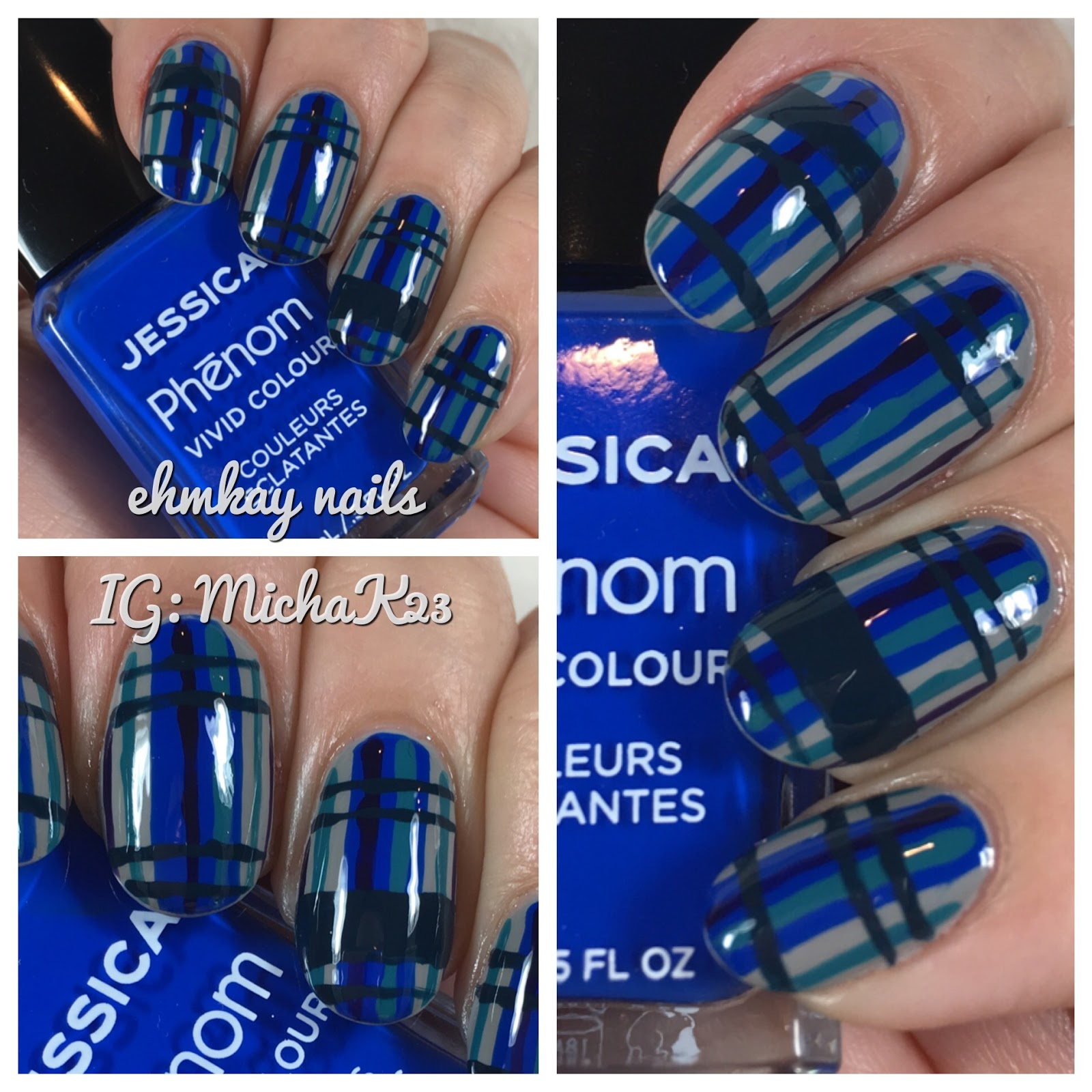 Then I Used Jessica Decadent And Placed A Stripe Down The Middle Of My Nails Cosmetics Faux Fur Blue