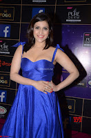 Mannara Chopra in Deep Neck Blue Gown at Zee Telugu Apsara Awards ~  Exclusive 029.jpg