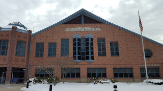 Horace Mann and Jefferson schools in snow