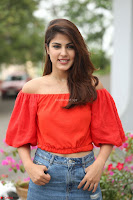Rhea Chakraborty in Red Crop Top and Denim Shorts Spicy Pics ~  Exclusive 154.JPG