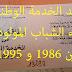 اعفاء الشباب المولودين ما بين 1986 و 1995 من الخدمة الوطنية
