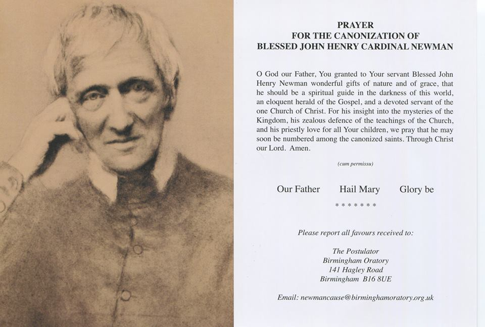 Prayer for the Canonization of Blessed John Henry Cardinal Newman