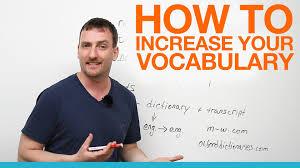 Improving Your English Vocabulary