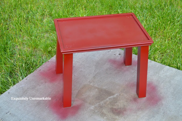 Spray Painted Table