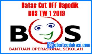 BOS Triwulan 1 Tahun 2019 Batas Cut Off Verifikasi Data Dapodik