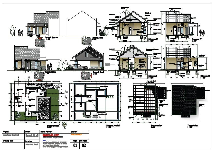 contoh gambar denah dan potongan rumah 4
