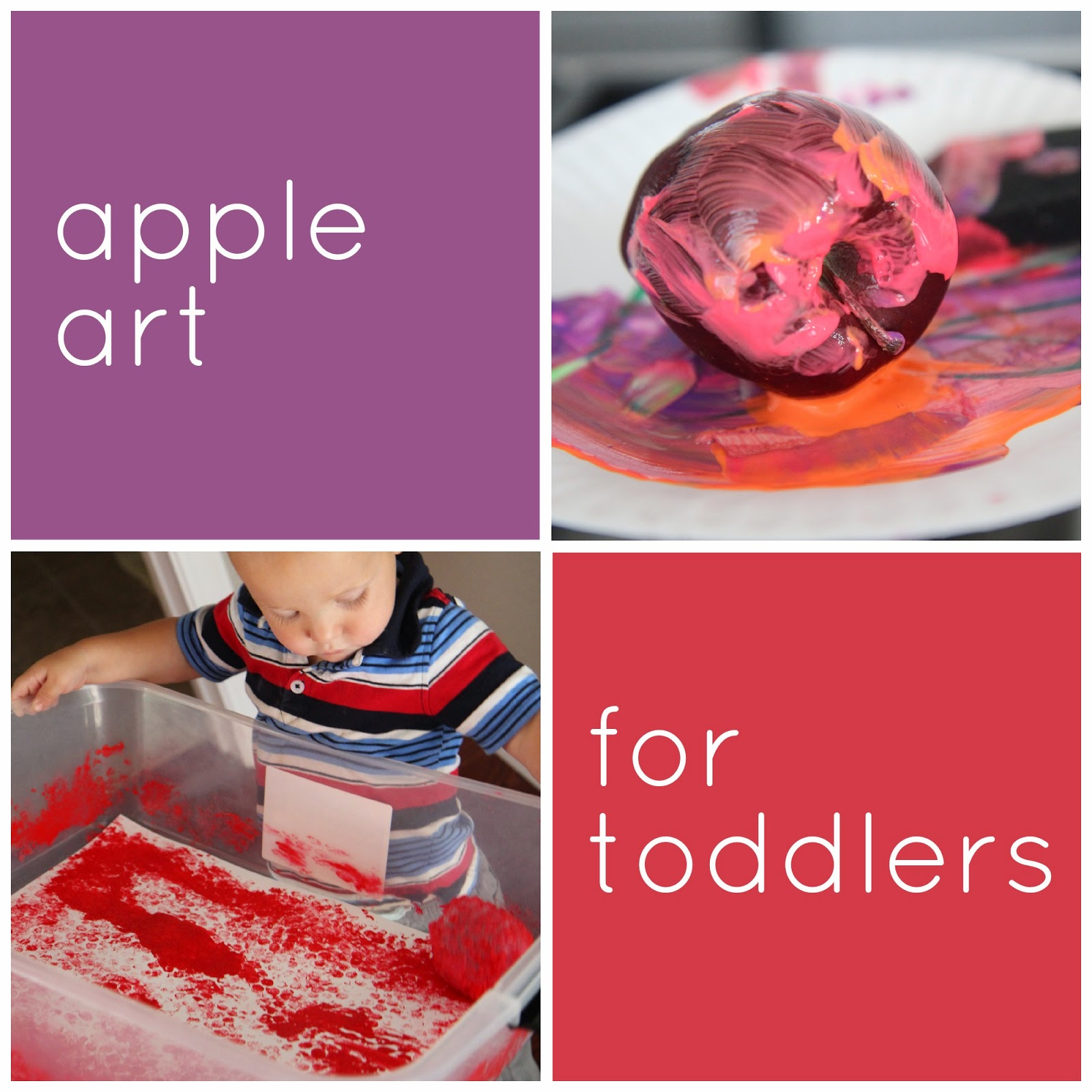 Toddler Approved Apple Art For Toddlers