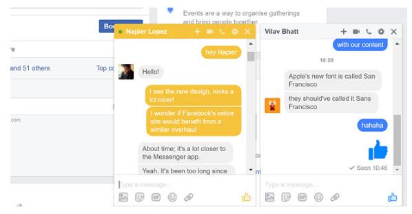 Facebook Desktop Site is Looking at Messenger Design