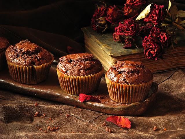 recette de muffins avec du chocolat et du caramel