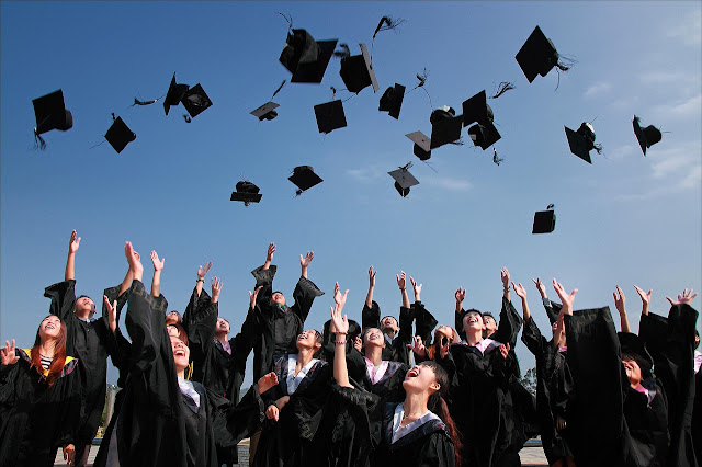 High school and college graduation traditions in different countries range from quaint to oddball. (https://pixabay.com/en/university-student-graduation-photo-1872810/)