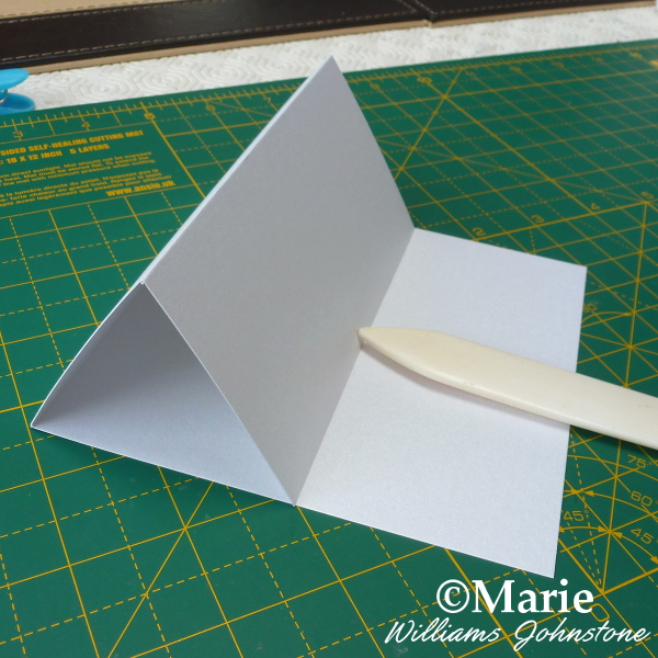 Basic handmade easel card design front folded tutorial by craftymarie