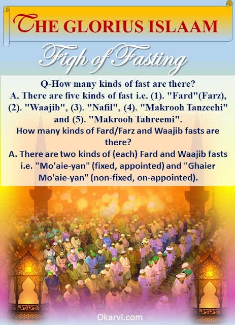 Fiqh of fasting : How many kinds of fast are there?