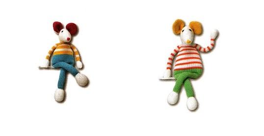 Doudou de souris au tricot