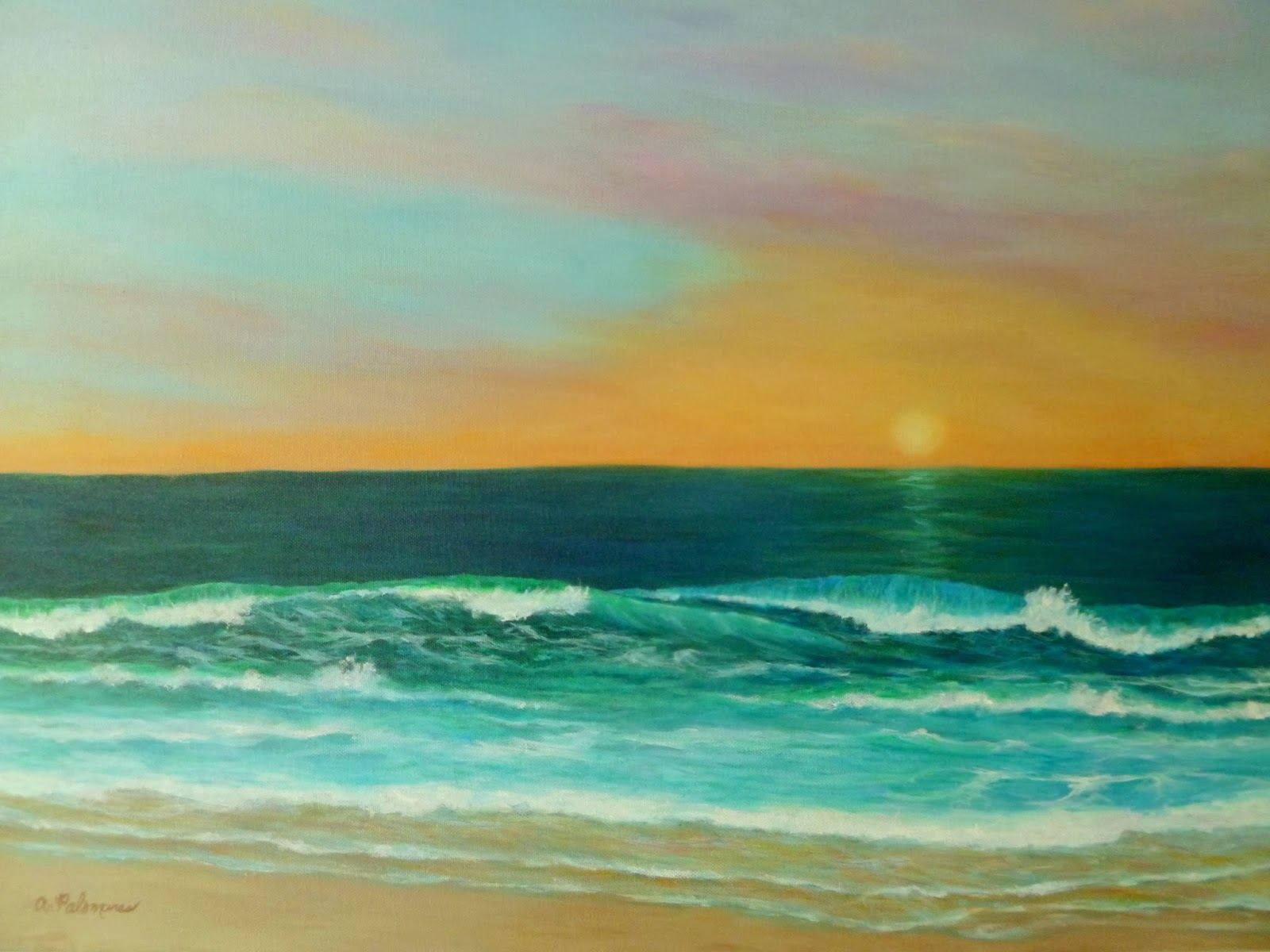 Coastal Sunset Paintings