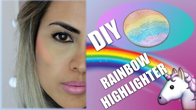 como fazer sombra arco-íris diy rainbow highlighter vivy rodrigues blog da vivy