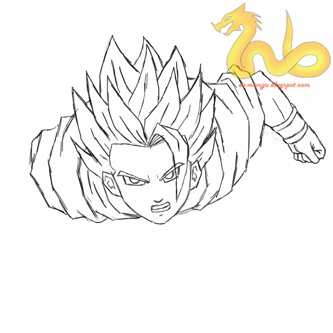 Cara Menggambar Son Goku Dragon Ball Z Manga Council