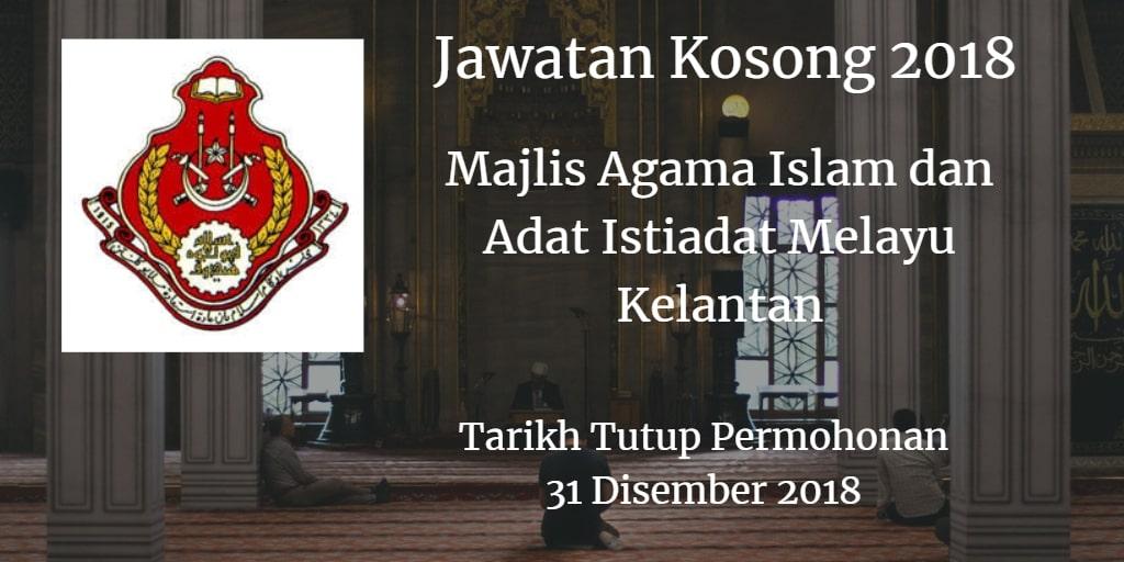 Jawatan Kosong MAIK 31 Disember 2018
