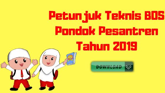 Petunjuk Teknis BOS Pondok Pesantren Tahun 2019