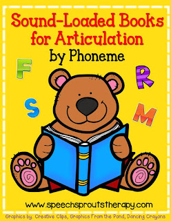 FREE Sound-Loaded Books List For Phonemic Awareness Practice and Articulation www.speechsproutstherapy.com