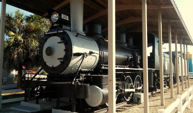 Locomotora de la Atlantic Coast Line en el museo del ferrocarril. Fue construida en 1905 por Baldwin