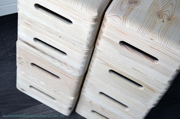 Cajas de madera de Leroy Merlín