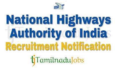 NHAI Recruitment notification of 2018, govt jobs for graduates