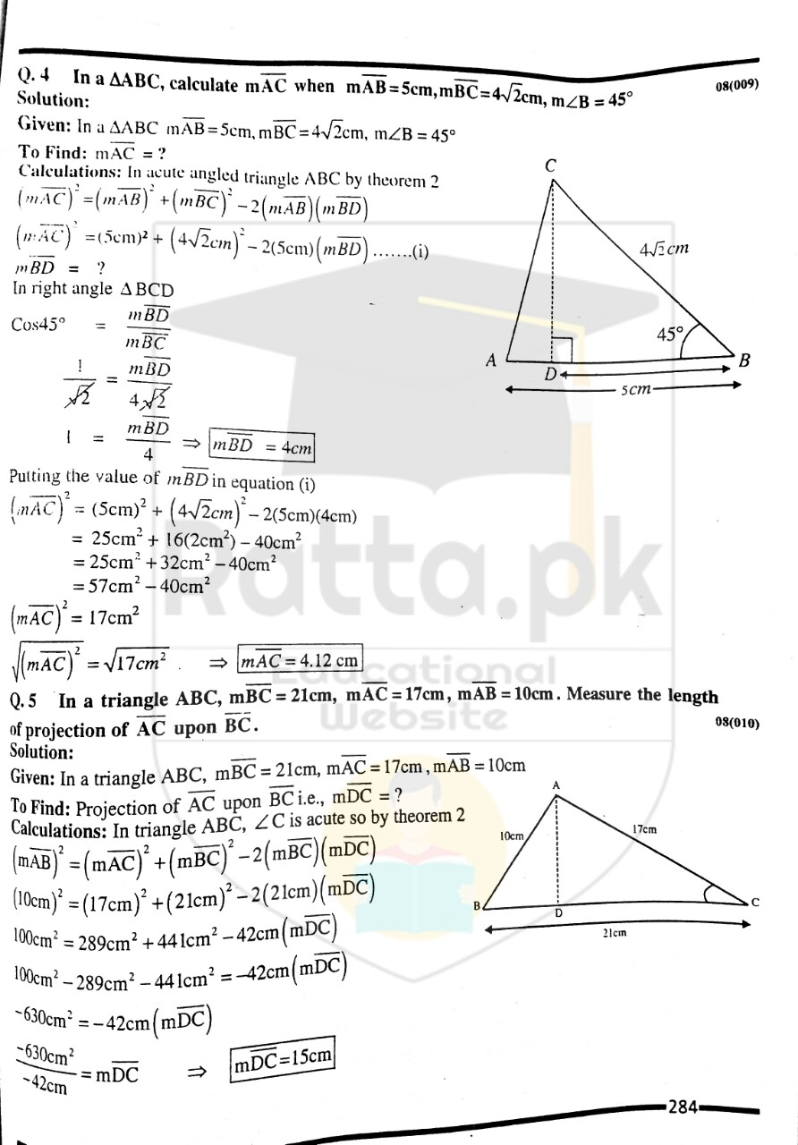 10th Maths Misc. Exercise 8 Solved Obectives 3