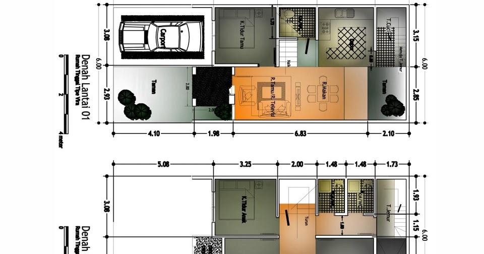Desain Rumah Minimalis Ukuran 6x8  35 inspirasi penting desain rumah lantai 2 ukuran 6x8