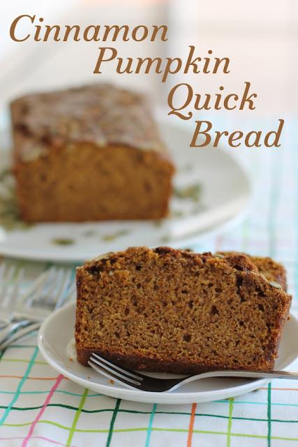 Food Lust People Love: Cinnamon Pumpkin Quick Bread #BreadBakers