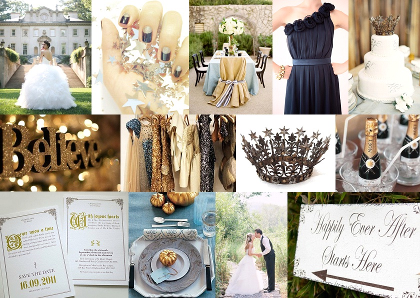 Annie Is Getting Hitched Color Palette Navy And Champagne