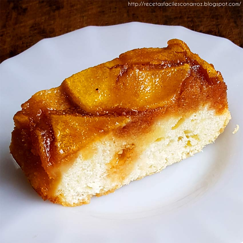 torta invertida manzana sin gluten