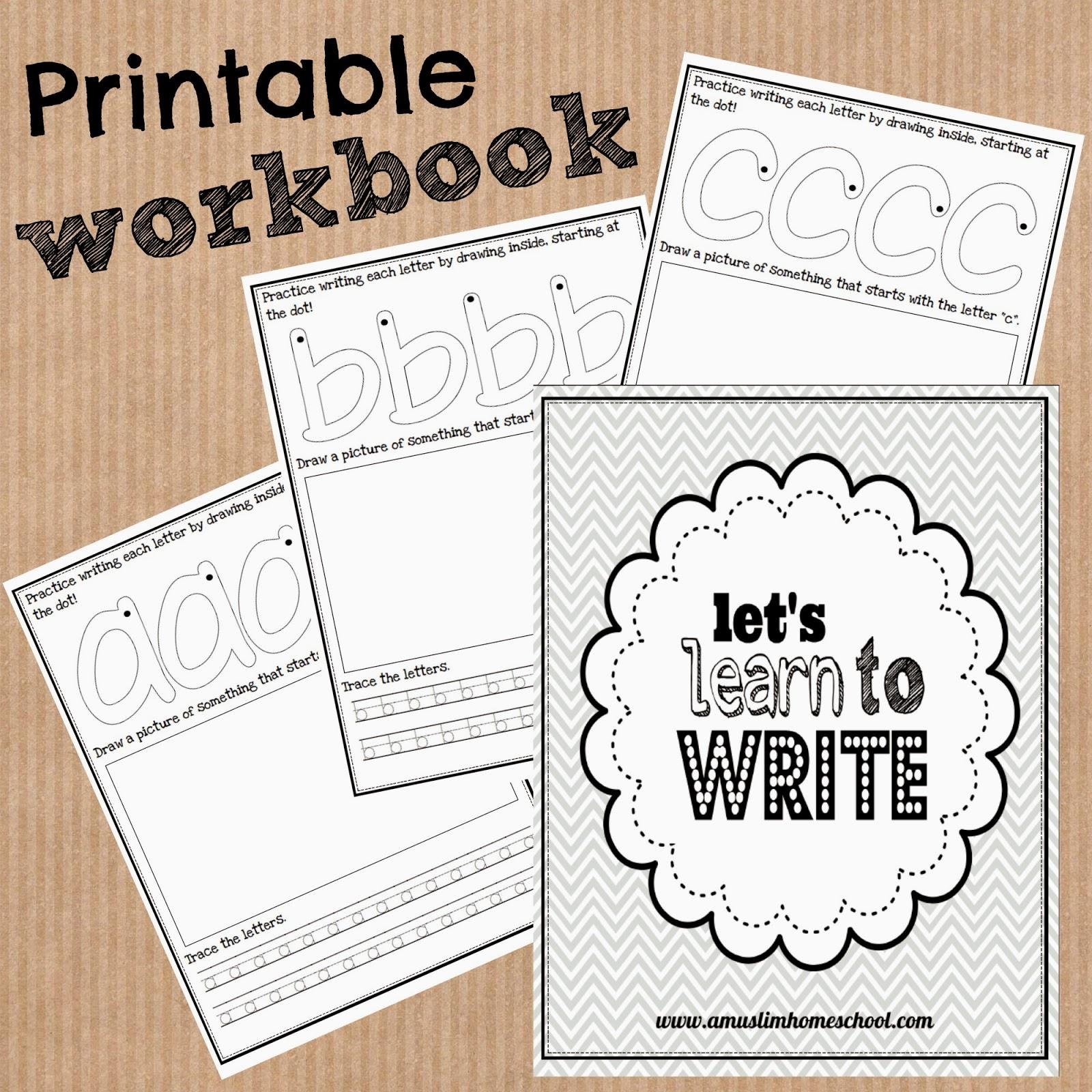 A Muslim Homeschool Printable Letter Tracing Workbook