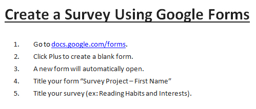 how to create google form survey
