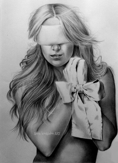 20 Mind-Blowing Pencil Drawings By Greek Artist That Illustrate The Beauty Of Love - Trust is so delicate