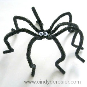 Cindy Derosier My Creative Life Pipe Cleaner Spiders