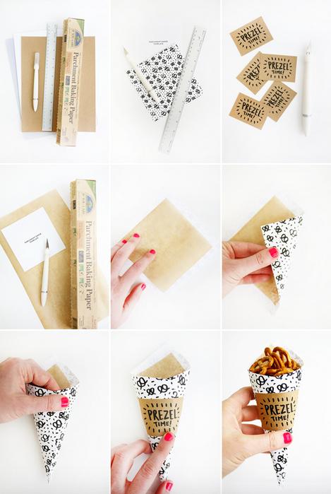 Conos de papel para aperitivo - Hacer conos papel ...
