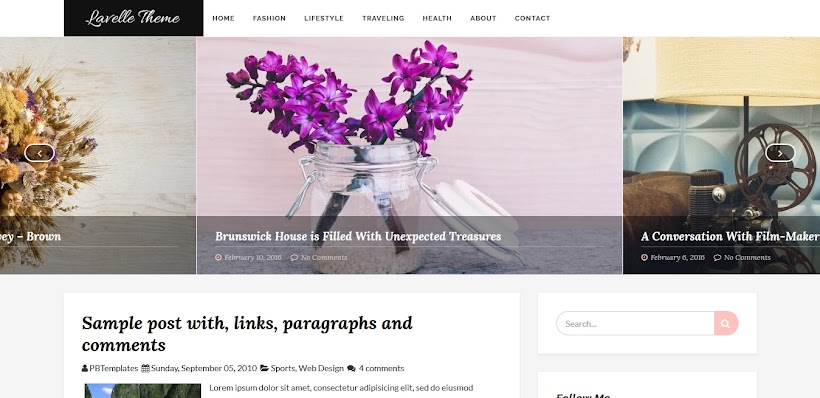 Lavelle Free Blogger Template