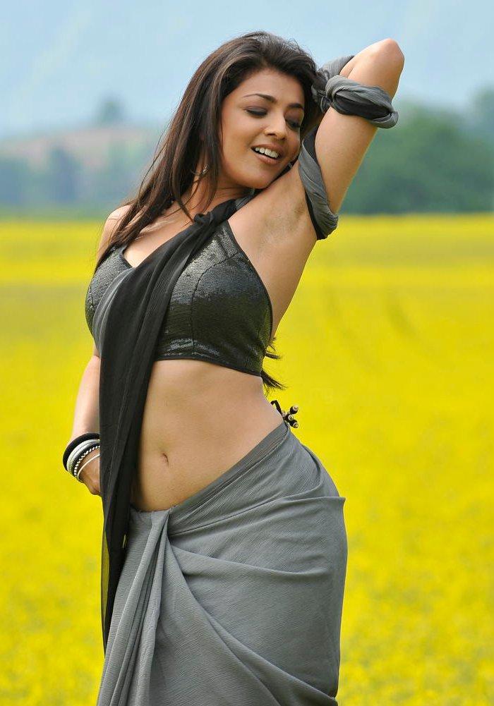 actress kajal agarwal hot saree pictures in veera moviemp3