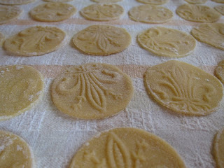 Just made corzetti pasta