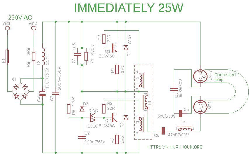 ELECTRONICS TRICKS AND TIPS: immediately 25w CFL BULB