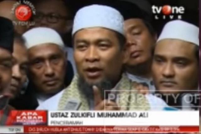 [Video] Pernyataan Lengkap Ustadz Zulkifli Ali yang Disiarkan tvOne Usai Diperiksa Bareskrim Polri