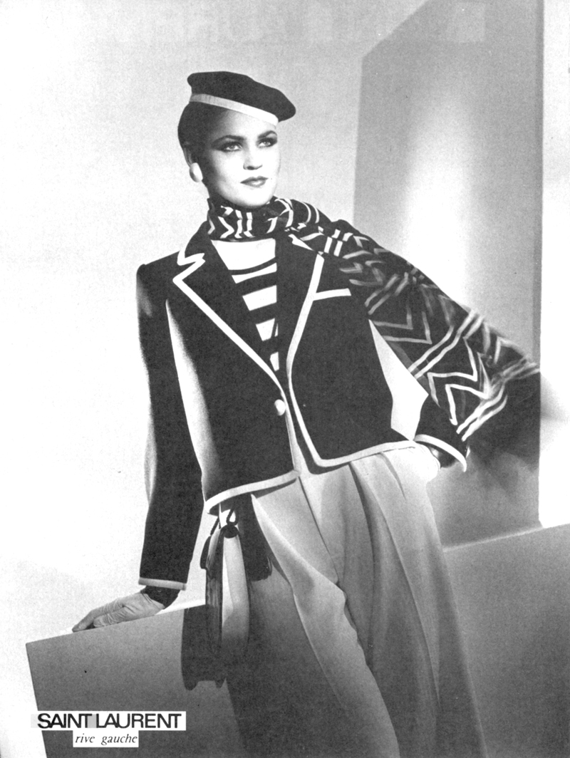 Yves Saint Laurent Rive Gauche campaign 1980 via www.fashionedbylove.co.uk british fashion blog