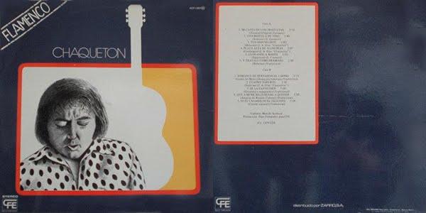 """CHAQUETÓN, MANOLO SANLÚCAR """"FLAMENCO"""" 1979 CFE REEDICIÓN MI CASTA DE LOS CHAQUETAS"""